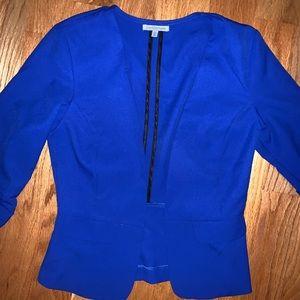 Sleek Blue Blazer - Charlotte Russe